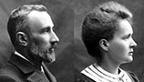Pierre and Marie Curie.