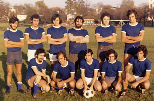 Greeks of LSE, our football team during graduate studies, 1972