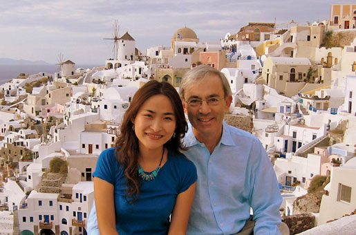 With Rachel Ngai at a conference in Santorini, 2008