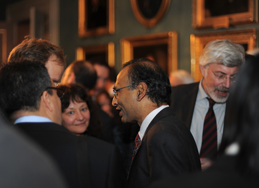 Venkatraman Ramakrishnan during the reception at the Royal Swedish Academy of Sciences