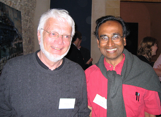 Thomas A. Steitz and Venkatraman Ramakrishnan in Erice 2006