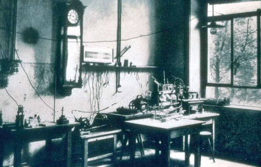 Wilhelm Röntgen's laboratory  at the University of Würzburg, where he made his discovery of x-rays