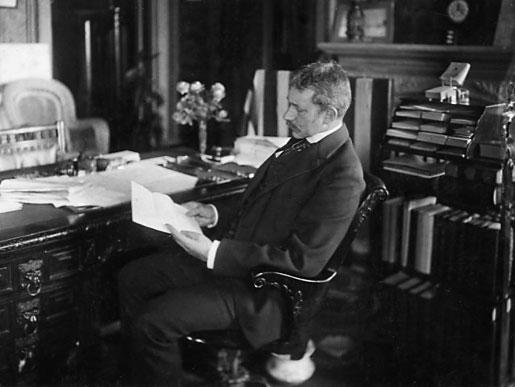 Elihu Root in his office