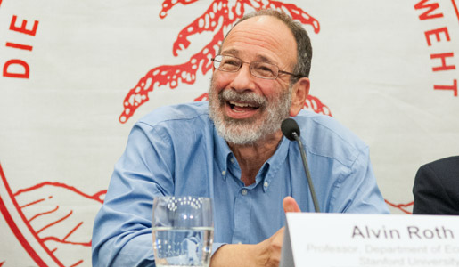 Alvin E. Roth at the press conference after the announcement of the 2012 Prize in Economic Sciences