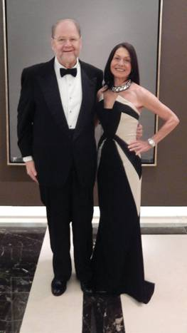 With my wife, Joy Hirsch, in the lobby of the Four Seasons Hotel in Washington D.C. on November 19, 2013, just after the meeting of the American Nobel laureates and spouses with President Obama, en route to the dinner at the Swedish Embassy.