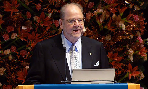 James E. Rothman delivering his Nobel Lecture
