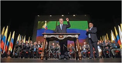 Signature of the Final Peace Agreement at the Teatro Colón in Bogotá on November 24, 2016.