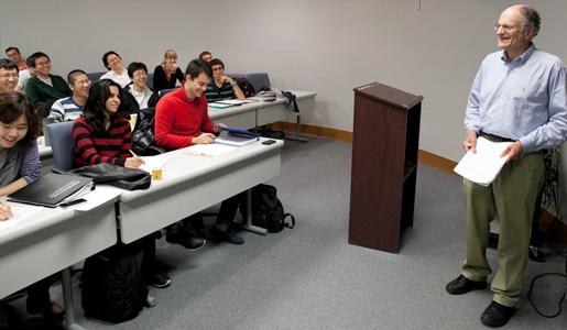Thomas Sargent, teaching a graduate course