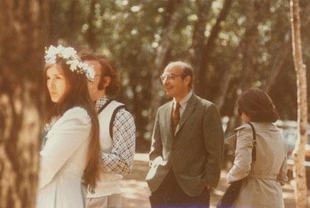 Wedding 1973: Nancy, Randy and Arthur and Sylvie Kornberg.