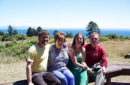 Family at weekend home at Sea Ranch: Joel, Nancy, Lauren and Randy.