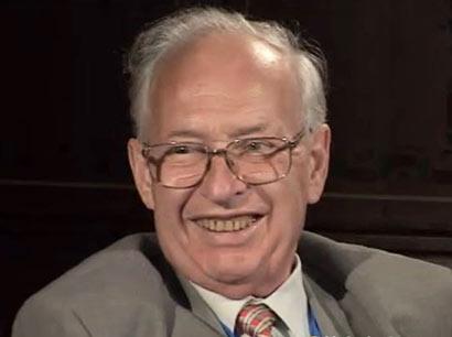 Reinhard Selten during the interview.