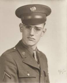 Lloyd Shapley in the Army, 1943.