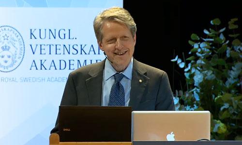 Robert J. Shiller delivering his Prize Lecture
