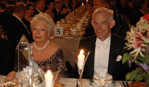 Christopher A. Sims and Princess Christina Mrs Magnuson at the Nobel Banquet