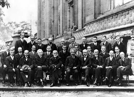 Participants of the fifth Solvay International Conference, 1927.