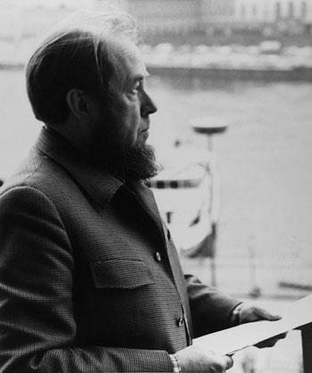 Alexandr Solzhenitsyn in profile