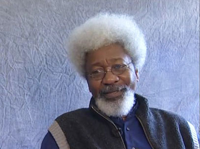 Wole Soyinka during the interview.
