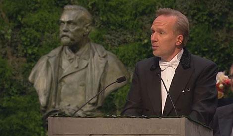Professor Tore Ellingsen delivering the Presentation Speech for the Sveriges Riksbank Prize in Economic Sciences in Memory of Alfred Nobel