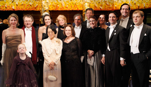 Family and friends of he late Professor Ralph M. Steinman assembled after the Nobel Prize Award Ceremony