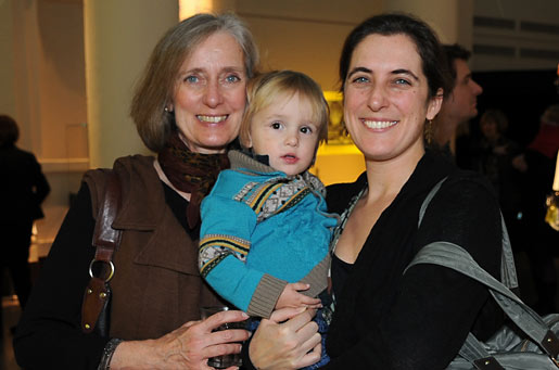 Mrs Claudia Steinman, wife of the late Professor Ralph M. Steinman, with daughter Lesley and grandson Robert