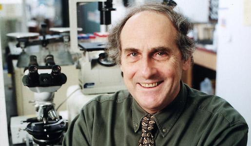 Professor Ralph M. Steinman in his laboratory