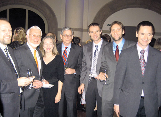Some of the key team players in the ribosome project shown enjoying a reception given by the Nobel Foundation at the Nordic Museum, Stockholm, on December 9, 2009