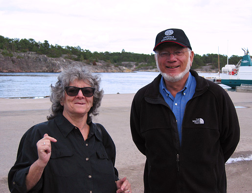Ada Yonath and Thomas A. Steitz in Sandhamn, Sweden