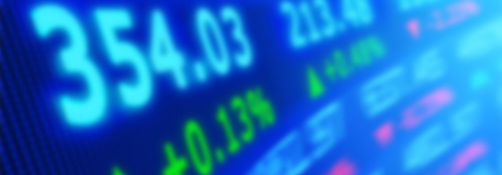 Stock market screen, © Axaulya