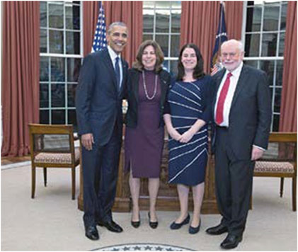 Meeting President Obama in the Oval Oce along with Fiona and Alison.