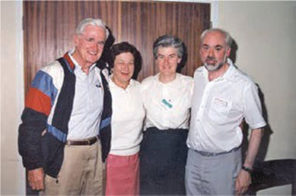 With Don and Jane Cram at the 16th International Symposium on Macrocyclic Chemistry held at Sheffield University in September 1991.