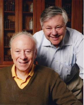 Joseph L. Goldstein and Michael S. Brown (picture taken 2008 in Dallas, TX; gift of Drs. Goldstein and Brown).