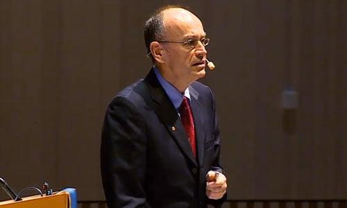 Thomas C. Südhof delivering his Nobel Lecture
