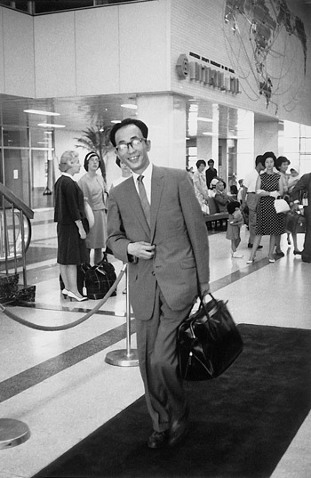 Leaving Tokyo/Haneda Airport for the U.S., August 1963