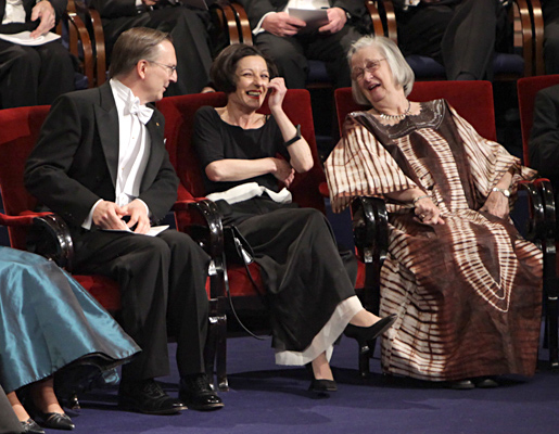Close-up from the Nobel Prize Award Ceremony