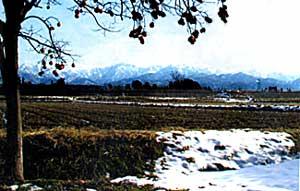 View of Tateyama Mountains
