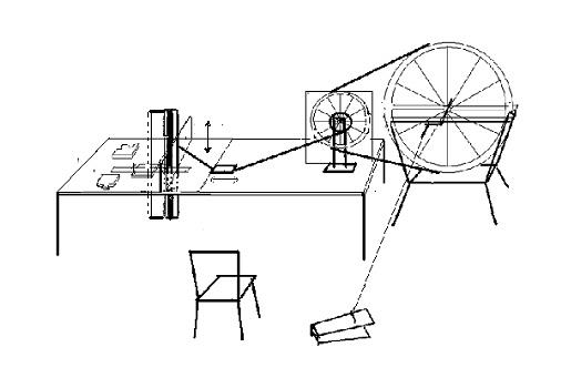 Drawing of jigsaw machine