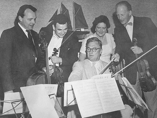 Rehearsal of Schubert's Quintet in C major