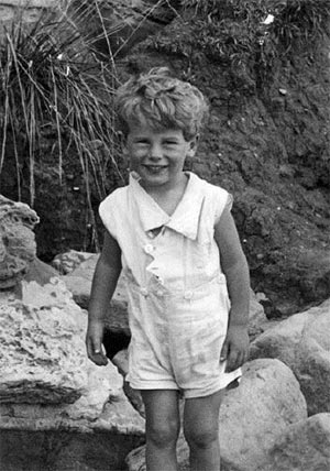 David Thouless, three years old.
