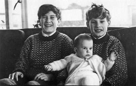 David Thouless' children: Michael, Christopher and Helen, December 1972.