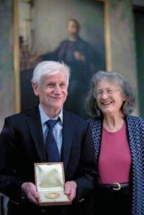 David and Margaret Thouless at the Nobel Foundation.