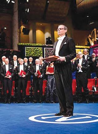 Prize award ceremony in Stockholm.