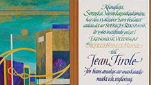 Jean Tirole's diploma