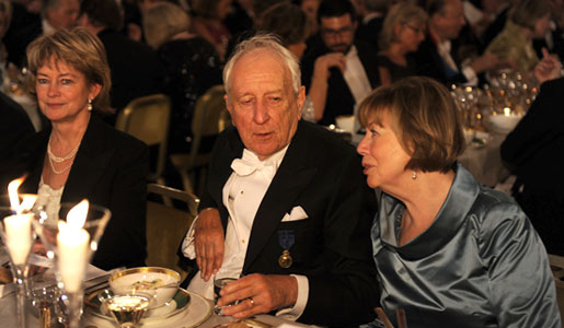 Tomas Tranströmer and his wife Monica at the Nobel Banquet