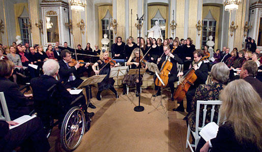 Uppsala Chamber Soloists playing during the program for Nobel Laureate Tomas Tranströmer at the Swedish Academy