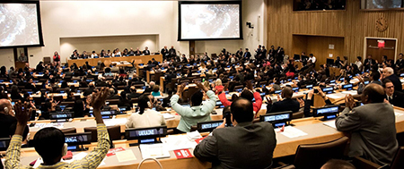 Signing ceremony for UN Treaty on the Prohibition of Nuclear Weapons at the United Nations Headquarters
