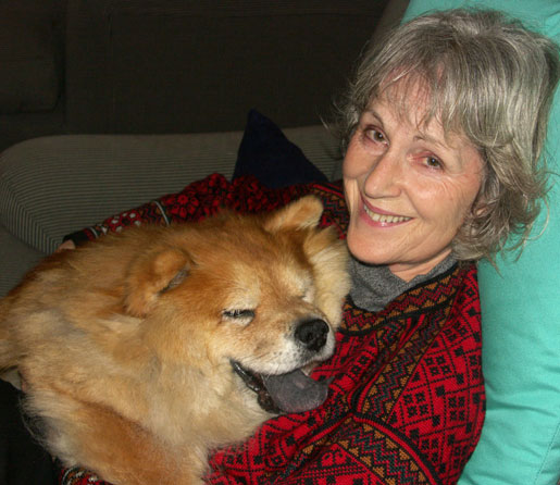 Wendy with our dog, Kiri, in 2004