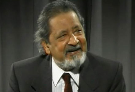 V. S. Naipaul during the interview