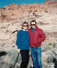 Arieh and Tami on a short hiking trip, around 1992.