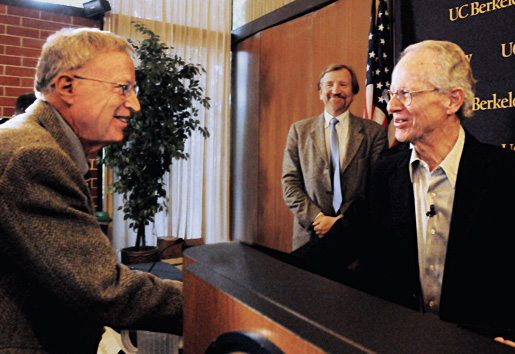 Oliver Williamson with George A. Akerlof
