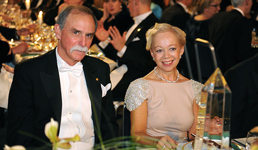David J. Wineland and Mrs Ylwa Westerberg at the Nobel Banquet, 10 December 2012